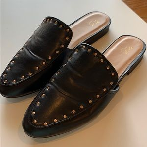 NY&C Shoes - NY & C mules. Black with gold studs